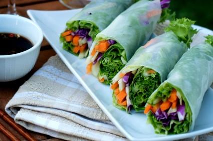 spring roll vegetable spring rolls or how to make crispy vegetable ...
